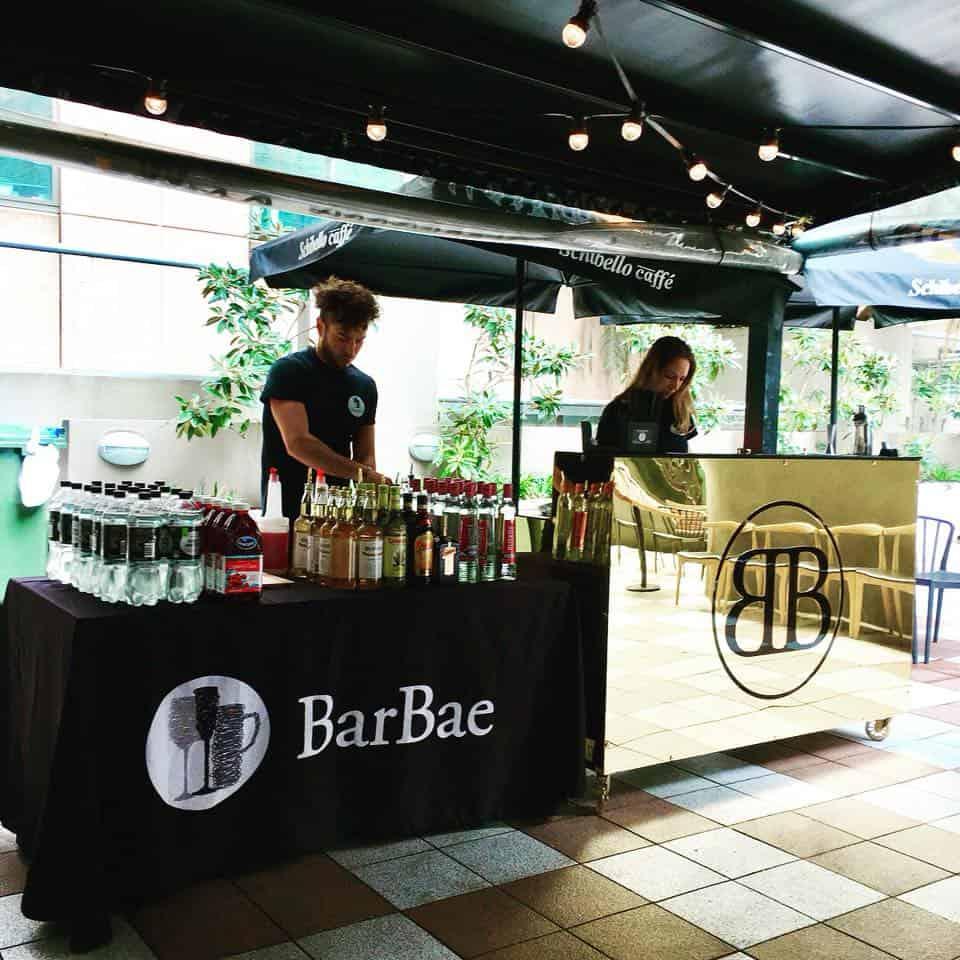 BarBae gold and black bar